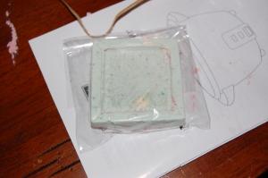 Green soap!