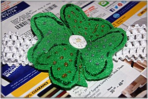 St. Patrick's Day baby headband
