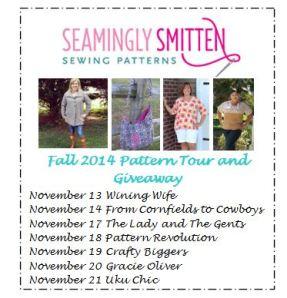 Seamingly Smitten Sewing Patterns Blog Tour